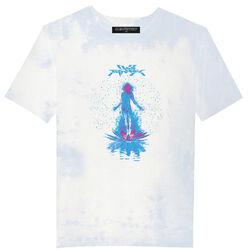 Club Fantasy In Bloom Tee in Blue/White Tie-Dye