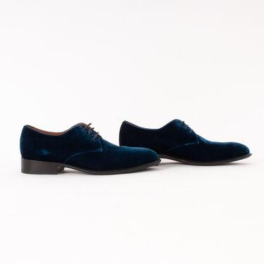 Celine Velvet Lace Up Derby Shoes