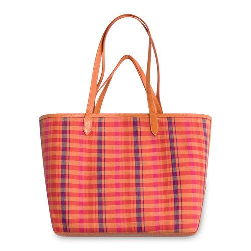 'Duo' Reversible Tote Bag - Multicolor Plaid