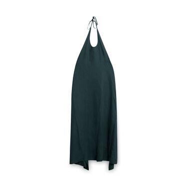 Baserange Silk Apron Dress - Dark Green
