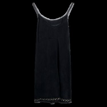 Vintage Black Rosette Nightie
