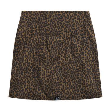 Levi's Premium High Waisted Leopard Skirt