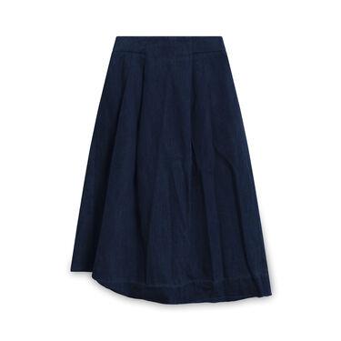 Whistles Denim Zipper Skirt - Navy