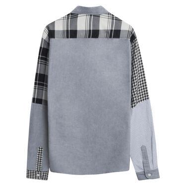 Maison Kitsune x NBA checked shirt