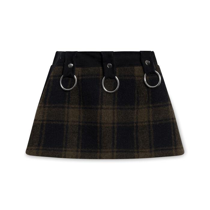 ALYX Plaid Mini Skirt In Black