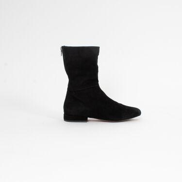 Céline Suede Zip Up Boots
