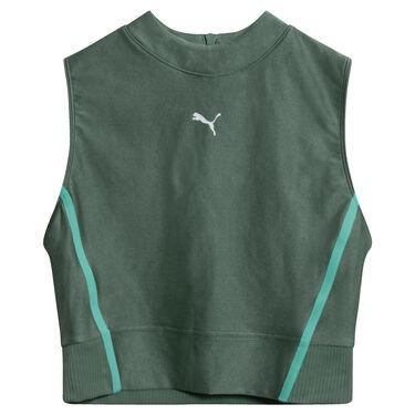 Puma Chase Full Zip Crop Top