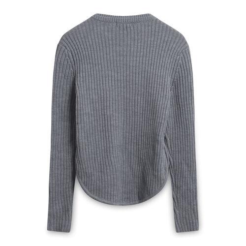 A.L.C Torrey Merino Wool Gray Rib Knit Sweater
