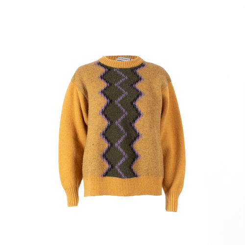 Yves Saint Laurent Wavy Stripe Knit Sweater