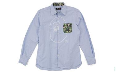 BAPE Mr. Bathing Ape ABC Camo Accent Button-Up Shirt