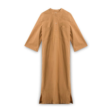 COS Button-Down T-Shirt Dress - Tan