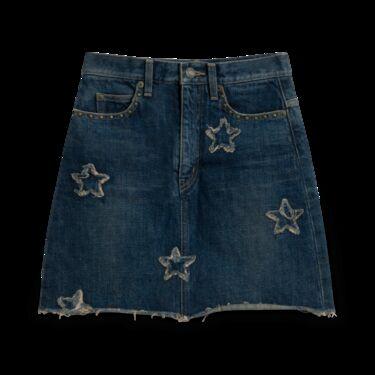 Saint Laurent Hedi Slimane Iconic Star Denim Miniskirt