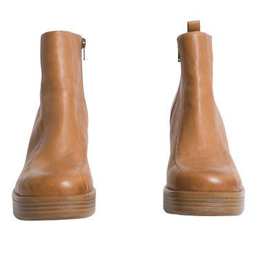 Vagabond Leather Ankle Boots - Tan