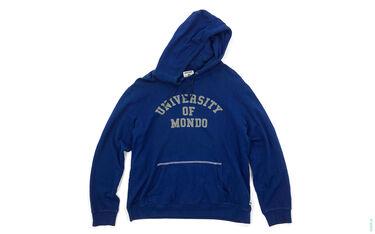 University Of Mondo Solf Fleece Pullover Hoodie blue