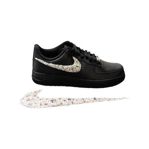 Azeeza x Nike Air Force 1 with White Embellished Swoosh