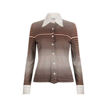 The Branch Div. of Joshua Tree- Striped Collared Shirt