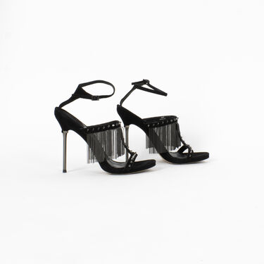 Brian Atwood Moultrie Fringe Sandals