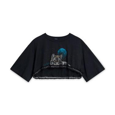 L.F. Furst Of A Kind Wolf Crop T-Shirt