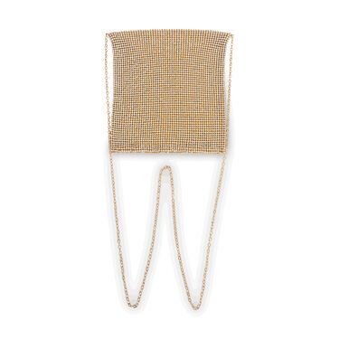 Gold Diamond Mesh Bag