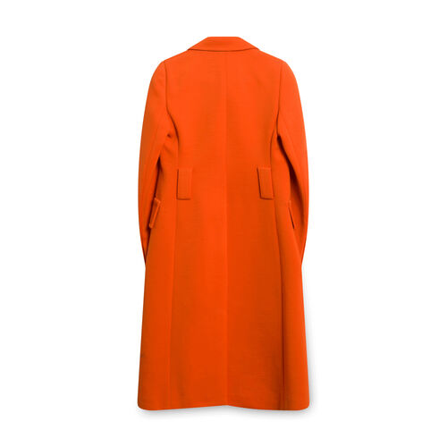 Prada Women's Orange Embellished Tailored Coat