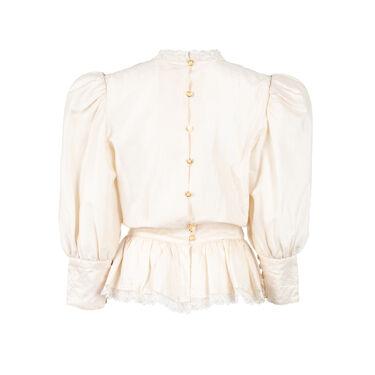 Vintage Lace Applique Blouse