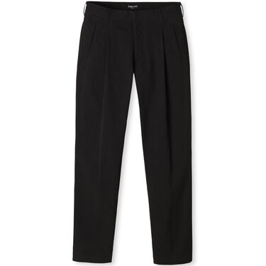 Entireworld Cotton Pleated Trousers - Black