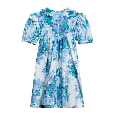 Rare Editions Blue Floral Dress
