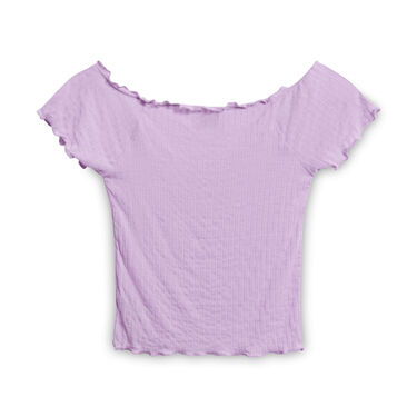 Out from Under Crop Blouse - Lilac