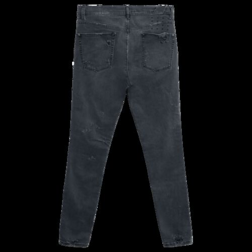 Ksubi Chitch Distressed Slim-Leg Jeans in Dark Age