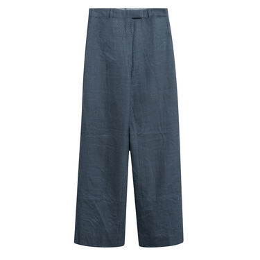 Chloé Polka-Dot Wide Leg Trousers in Blue