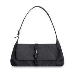 Gucci Denim Jackie O Shoulder Bag