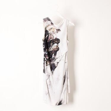 Helmut Lang Carrion Print Crepe Dress