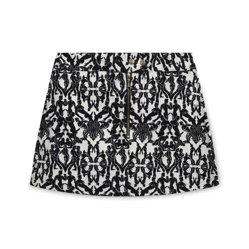 1990s Jean Paul Gaultier Sex Positions Mini Skirt - Black/White