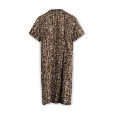 Vintage Robbie Bee Silk Cheetah Print Dress