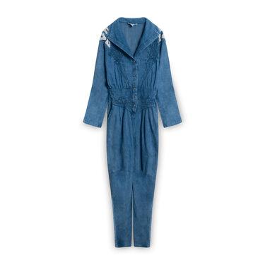 Vintage Michelle Stuart Denim Jumpsuit