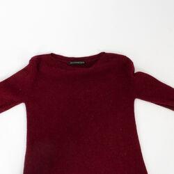 Balenciaga Knit Burgundy Sweater Dress