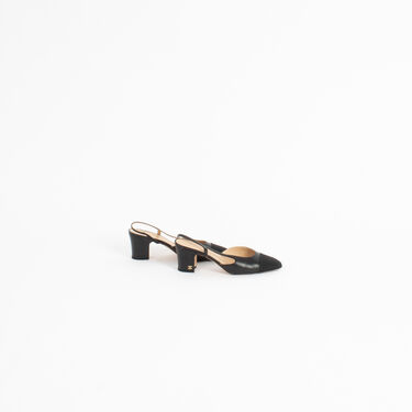 Chanel Goatskin & Grosgrain Slingback Heel