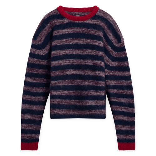 Braindead M Main Peruvian Stripe Knit Sweater