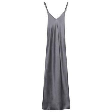 Azeeza Embellished Strap Silk Gown