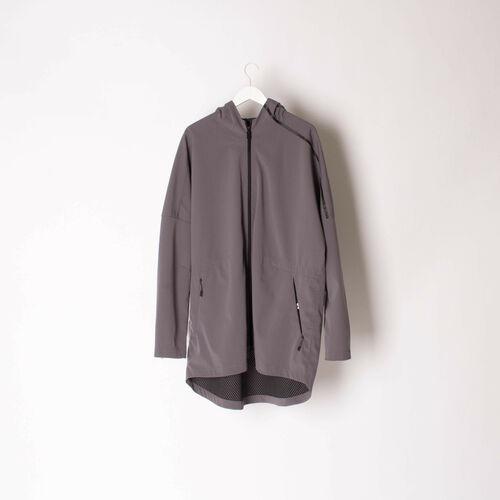 Adidas Hooded Fishtail Tech Fabric Jacket