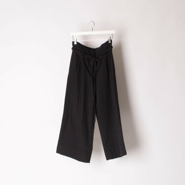 FORTE FORTE Pants Wide Leg Wool Blend Cropped Trousers