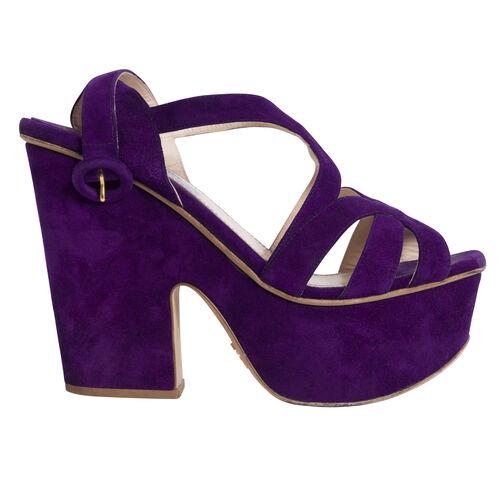 Prada Platform Sandals - Purple