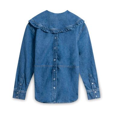 GANNI x  Blue Levi's Edition Denim Collar Shirt