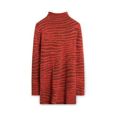 Vintage Malene Birger Turtleneck Sweater-Dress - Orange/Black