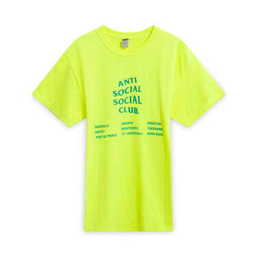Anti Social Social Club T-Shirt - Highlighter Yellow