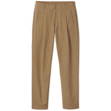 Entireworld Cotton Pleated Trouser - Ochre