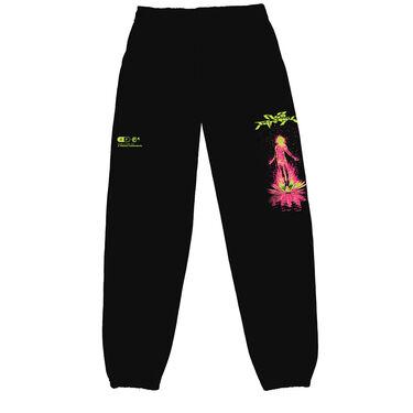 Club Fantasy In Bloom Sweatpants in Black