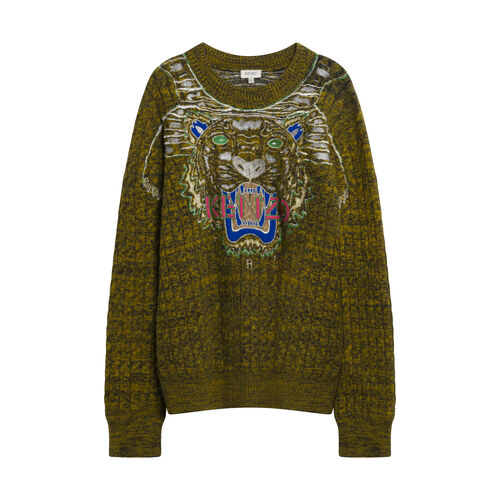Kenzo Embroidered Cable Knit Sweater