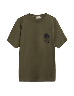 US MK Camp Short-Sleeved Tee-Shirt - Dark Khaki