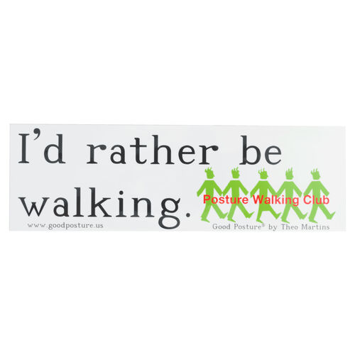 Walking Club Bumper Sticker (White)